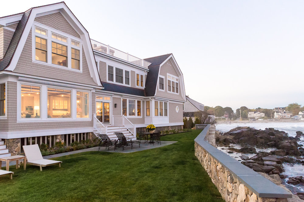 Oceanside Southern Maine home designed by Hurlbutt Designs