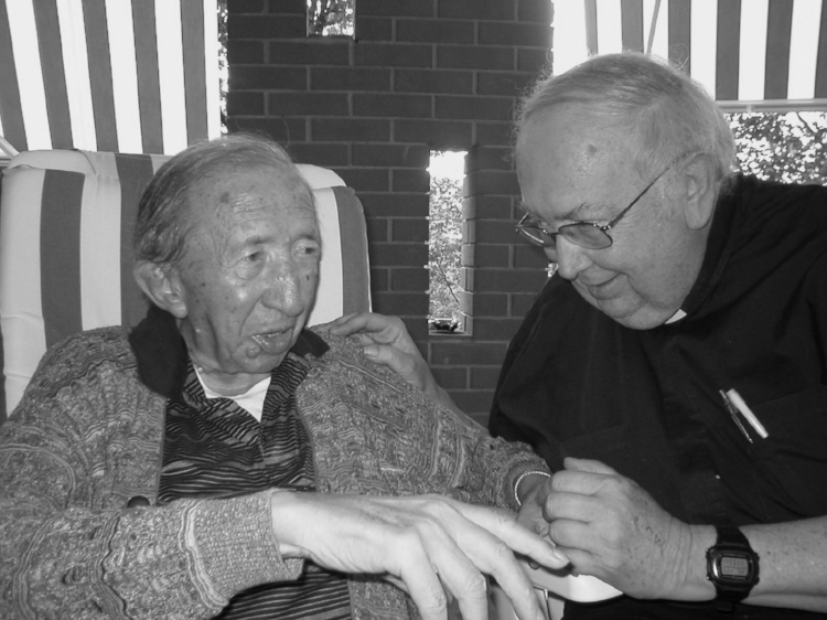 His last meeting with Fr. Luigi Giussani, founder of the Communion and Liberation Movement.