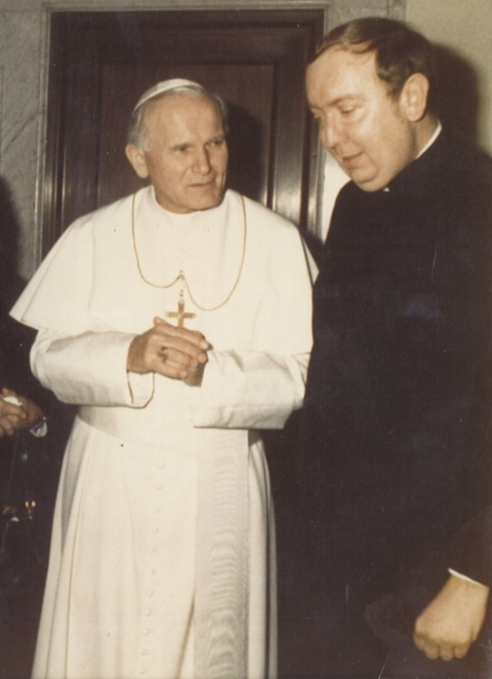 A meeting with Pope John Paul II early in his pontificate.