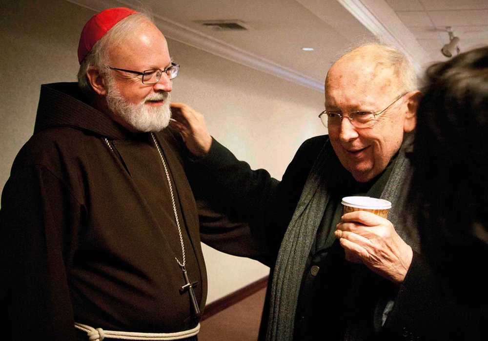 Behind the scenes at the 2011 New York Encounter with his dear friend Cardinal Sean O'Malley.