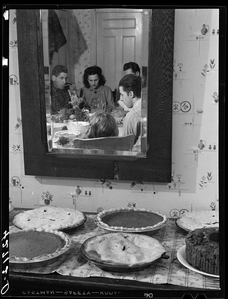 photo by Jack Delano, Crouch Family on Thanksgiving, November, 1940.