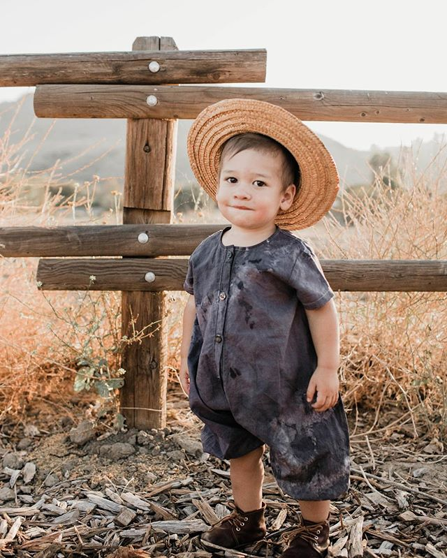 Too much cute, can't handle it! Triumph in the origami romper, hand dyed by @loveallspecies  30% off SALE started today, sitewide, with code SUMMERLOVE at checkout! ☀️ 📷: @valeriedenisephotos