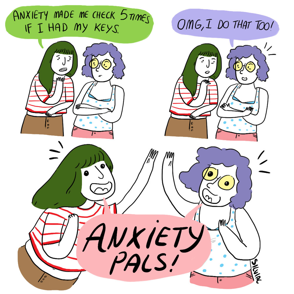Anxiety Pals   Personal comic for social media.
