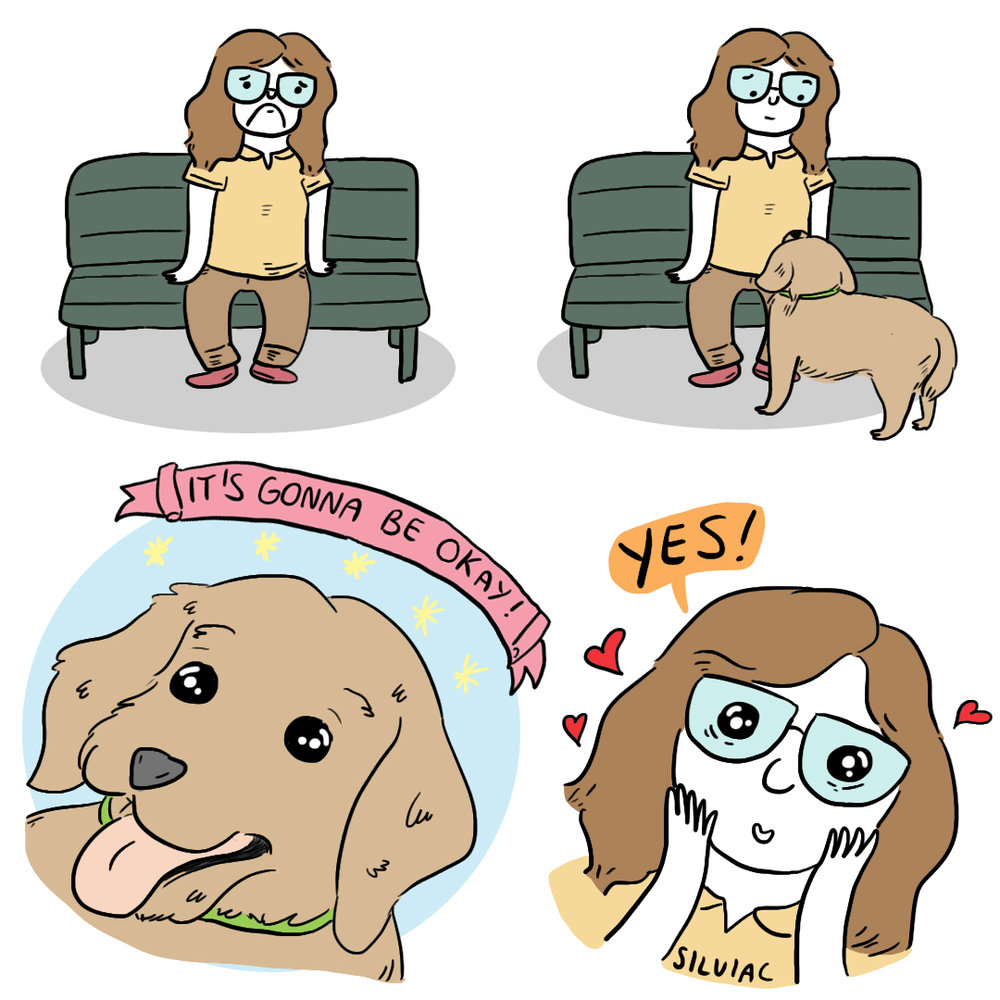 Supportive Dog   Personal comic for social media.