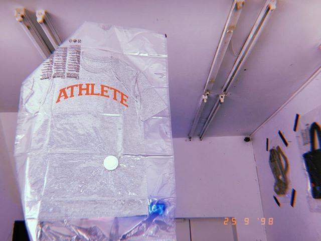 A N D  TH E Y ' R E  O F F • Cool as a cucumber 1980's gender-neutral existential sportswear clothing for the proverbial man 'dem, ooman 'dem and all 'dem Marks and Spencer's need not apply. Come down. We're only open for a week. #stitchacademy #genderneutral #genderless #sportswear #hackney