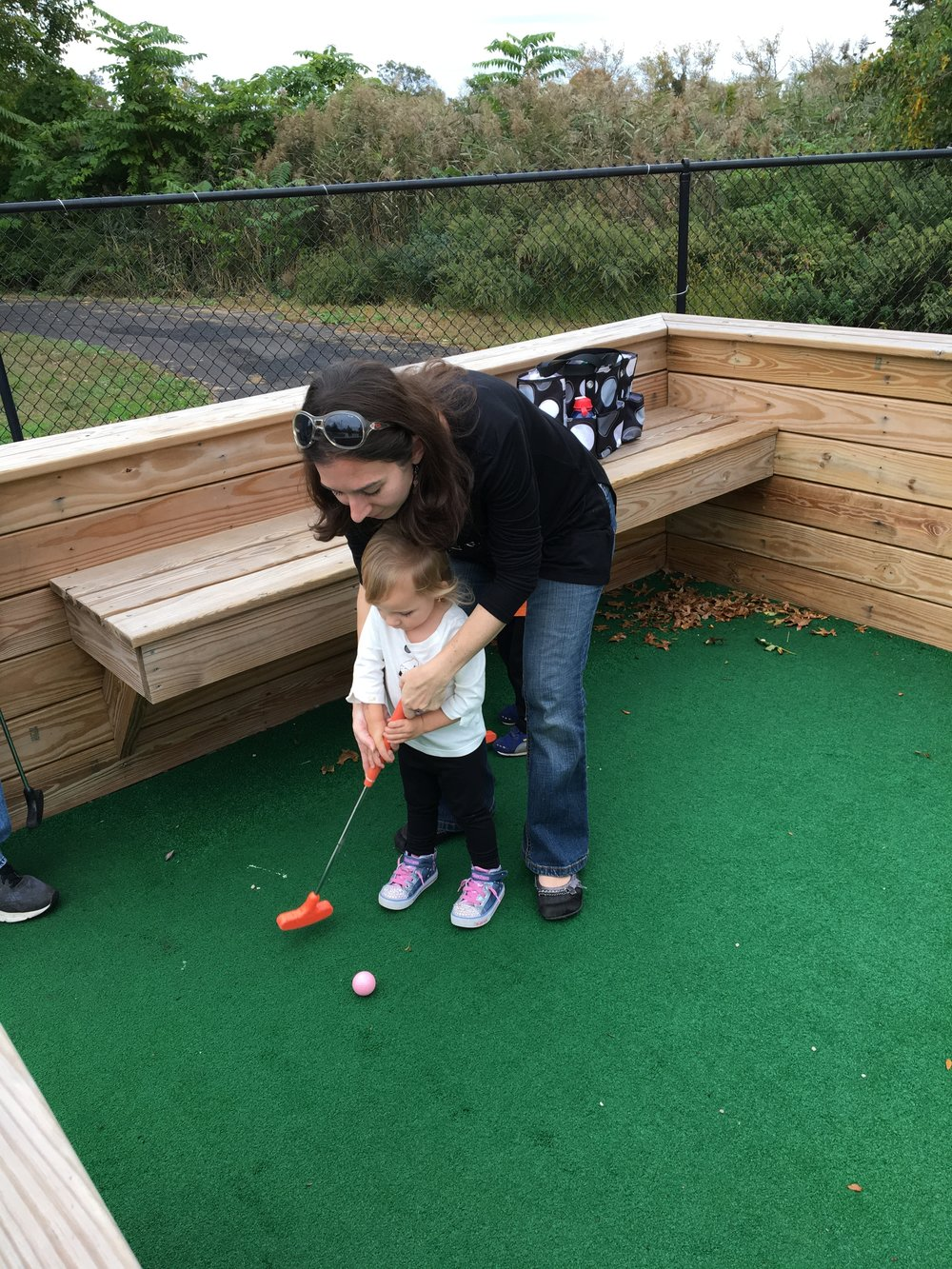 Minigolf training