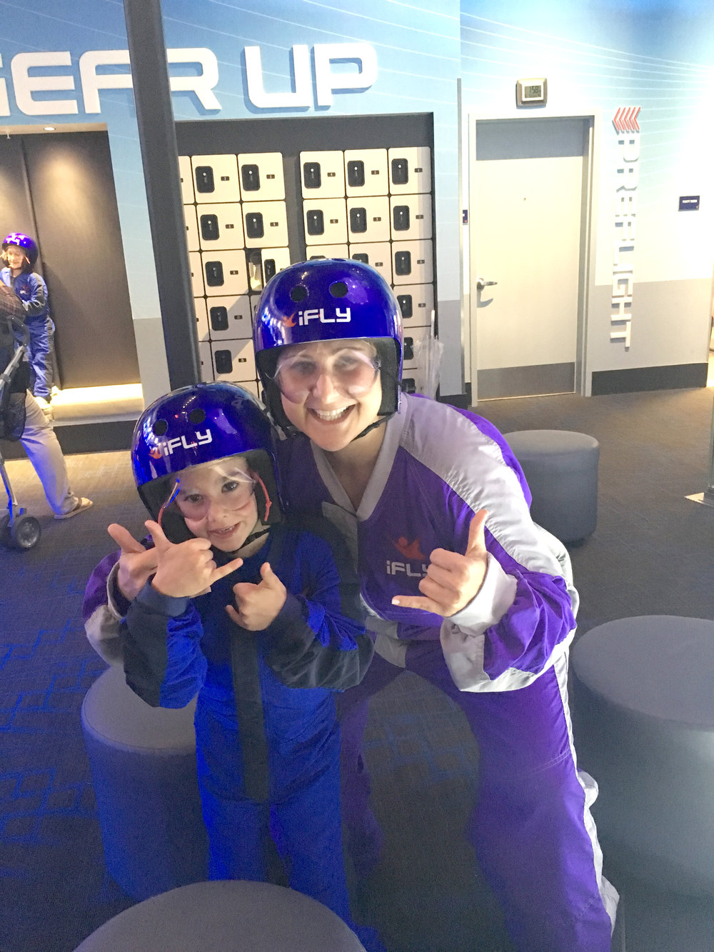 Indoor skydiving with my nephew