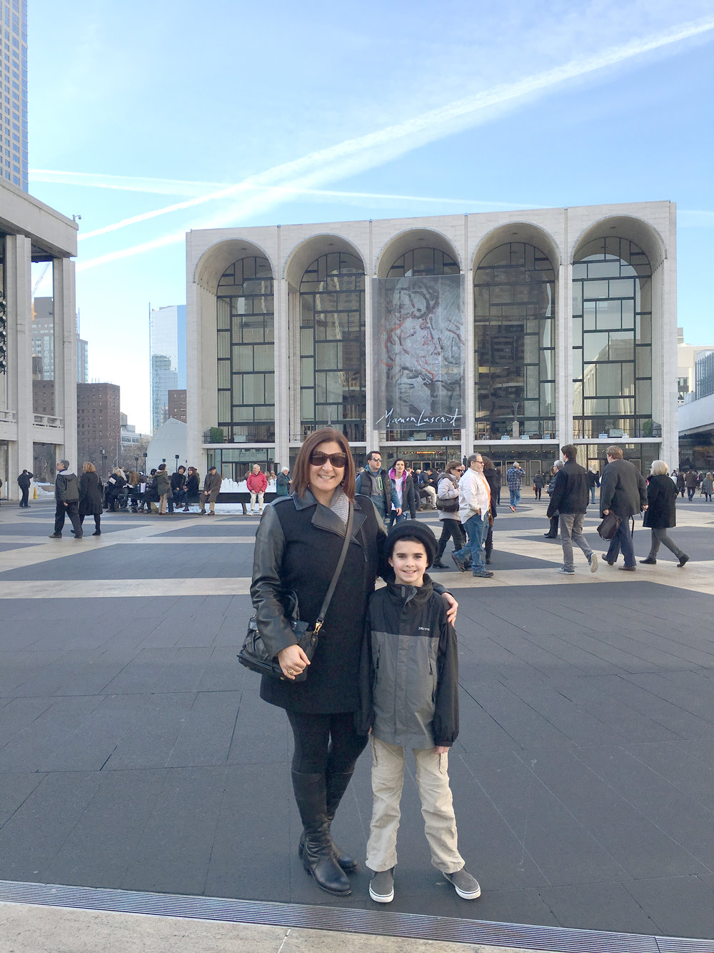 Lincoln Center with my nephew