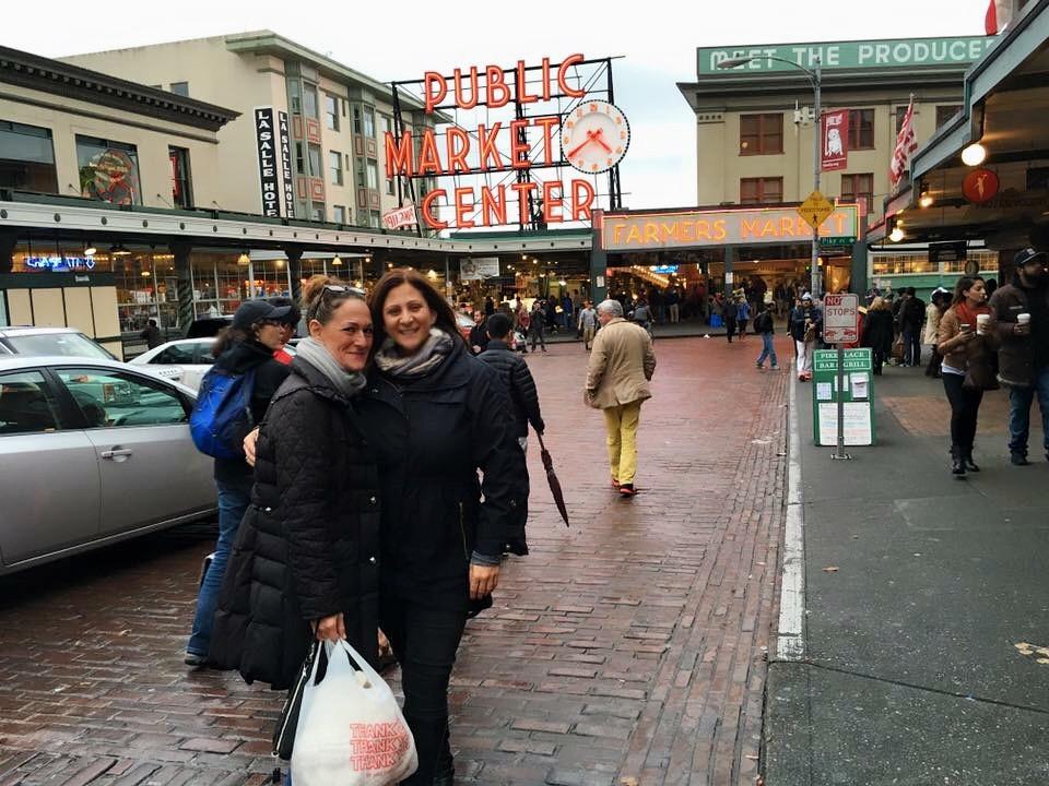 In Seattle with my friend Jordana