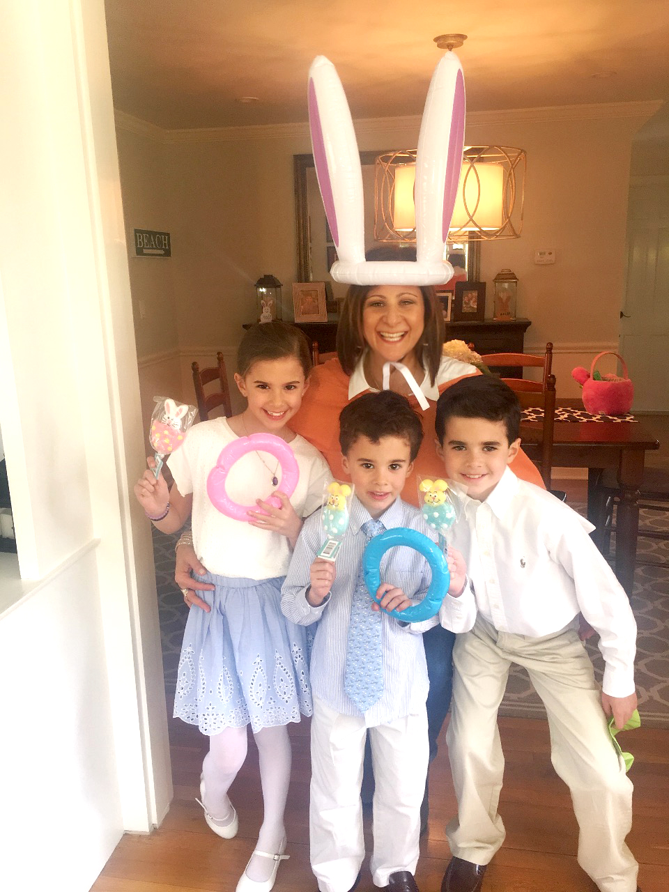 Celebrating Easter with my nephews and niece
