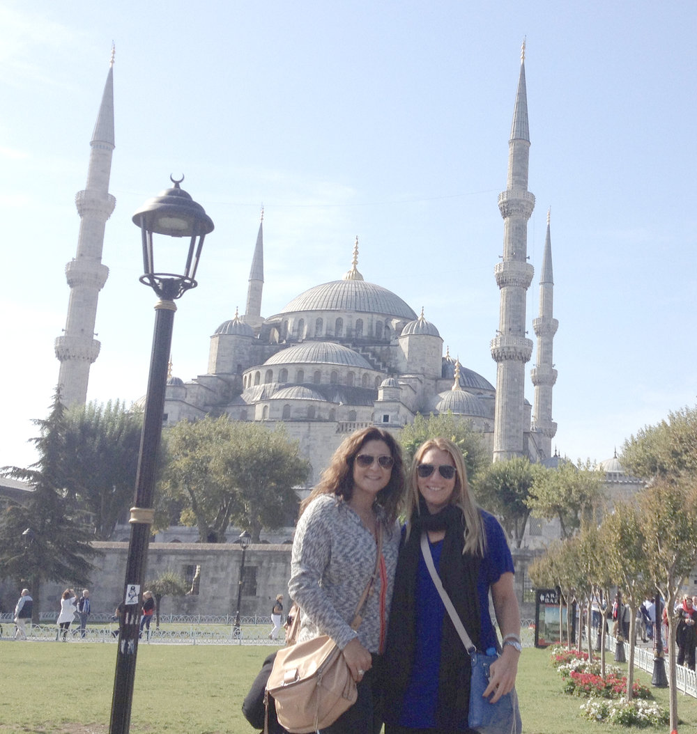 In Istanbul with my friend Lisa