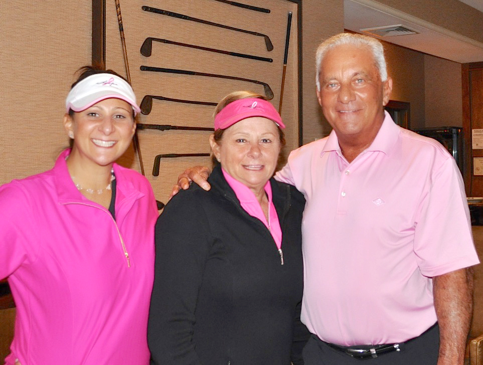 Play for Pink fundraiser with my parents