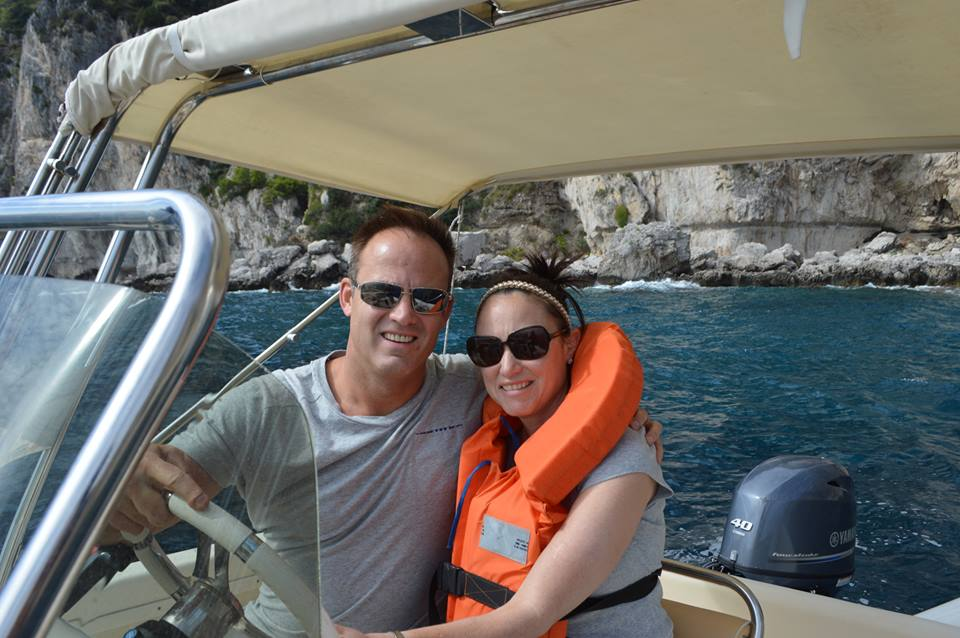 Boating the waters of Capri Island, Italy
