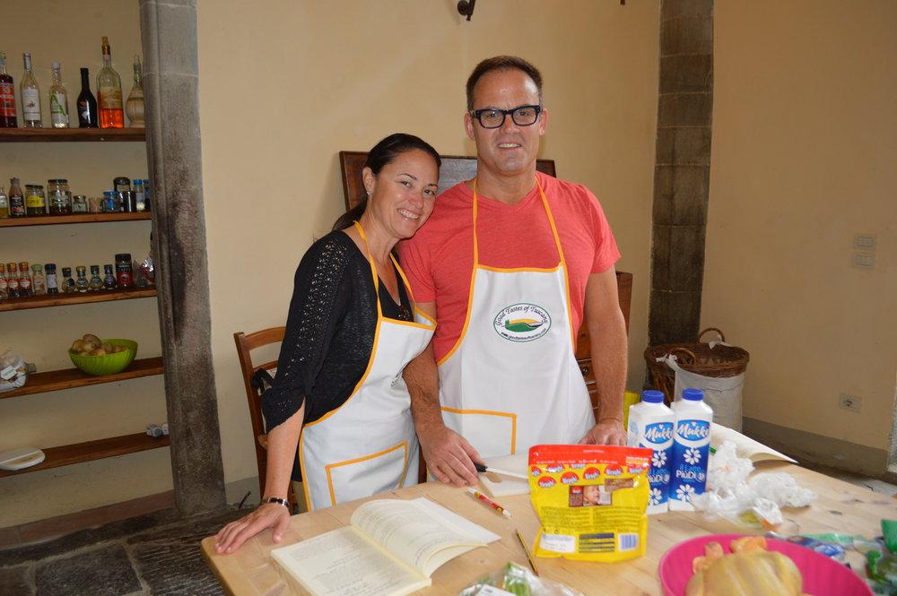 Making pasta in Tuscany, Italy