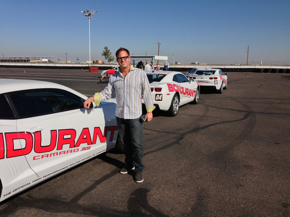 Car racing at ISM Raceway Arizona