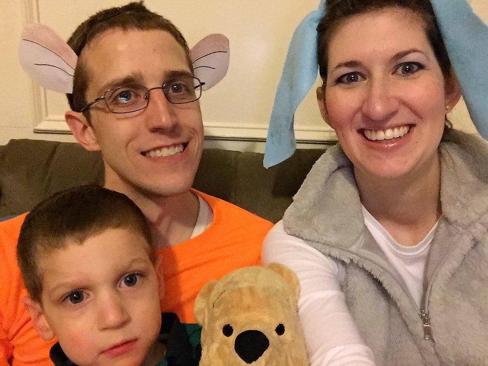Happy Halloween from Tigger, Eeyore, and Christopher Robbie