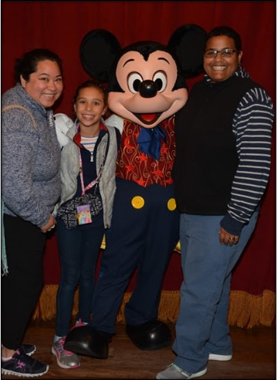 Our family with Mickey