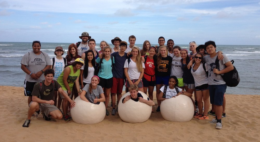 Martha on a school trip to Brazil with her students