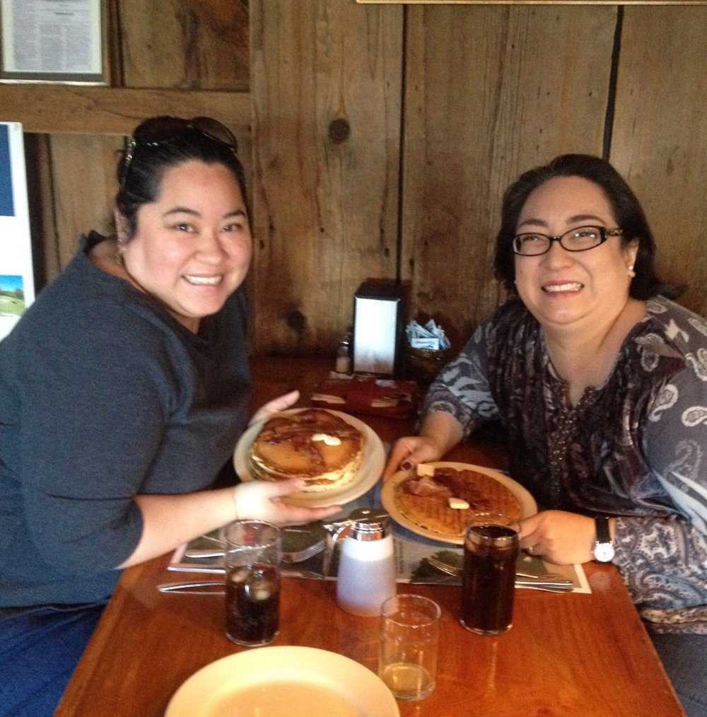 Metta and her sister, Rima, at the Sugar Shack