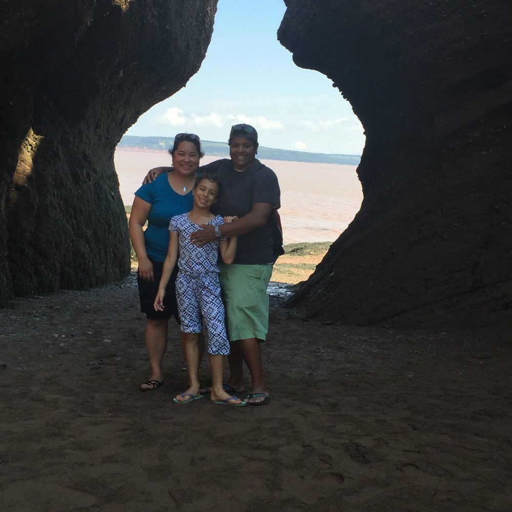 Our family exploring the Bay of Fundy