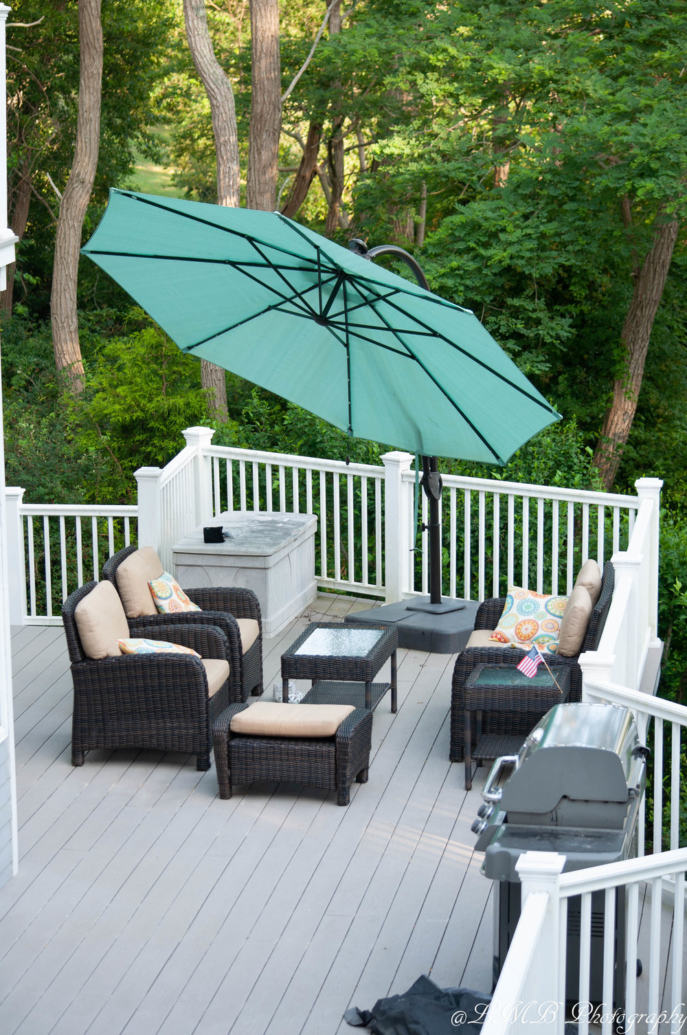 We love to relax on our back deck