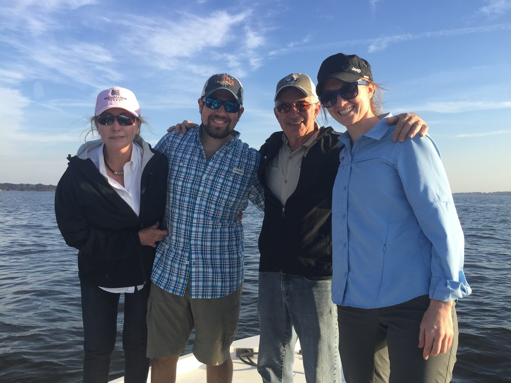 Going fishing with Joseph's family