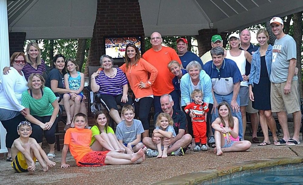 I also love when our relatives come to visit us in Texas! This is just some of us during the visit.