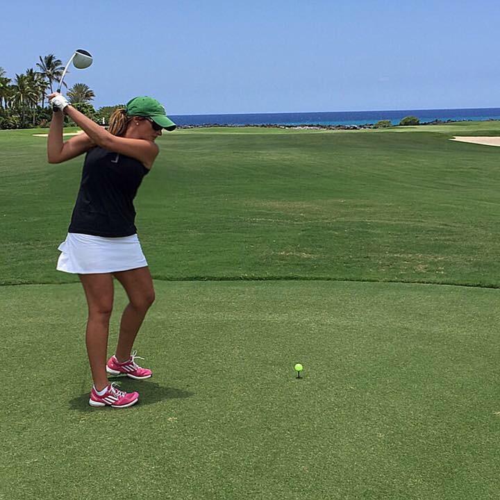 Playing golf in Hawaii