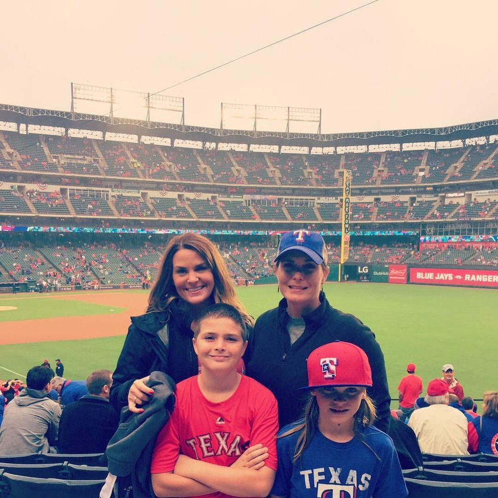 I surprised my sister in law and niece and nephew with Texas Rangers Play off tickets.