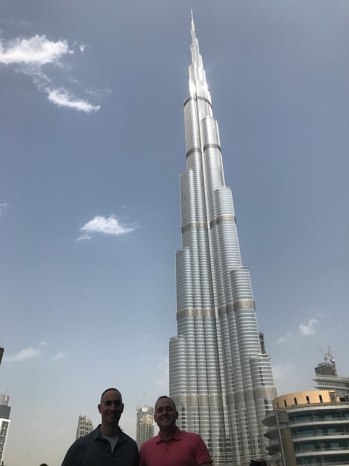 Visiting the tallest building in the world!