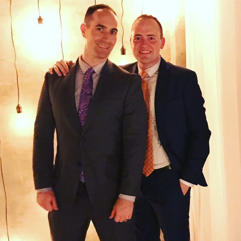 We love getting dressed up for weddings! Here we are celebrating the marriage of Colin and Alex