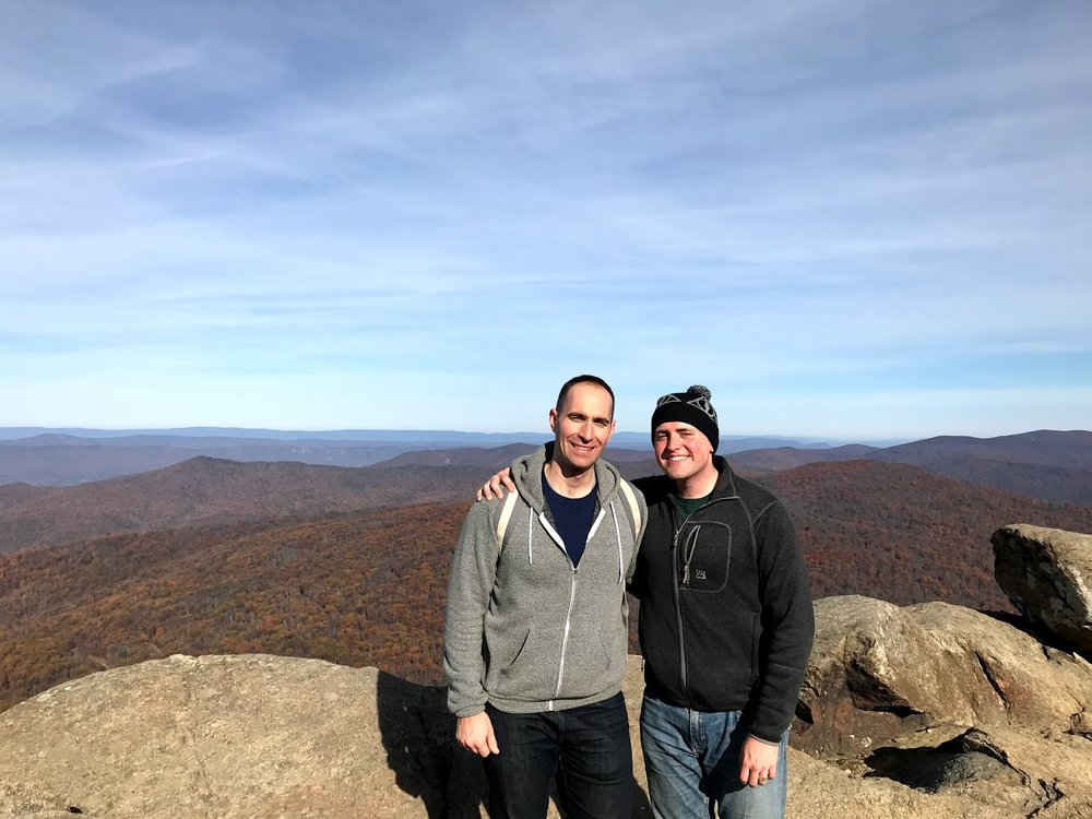 We try to get out of the city on weekends and spend time in nature. The Shenandoah Valley has some gorgeous hikes!
