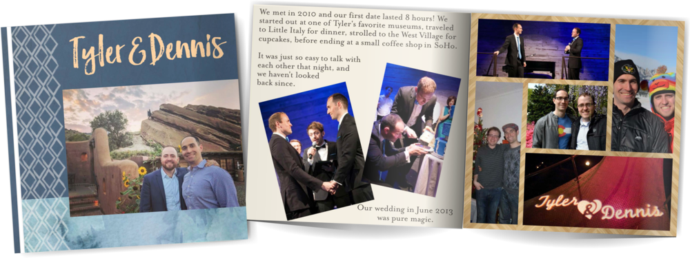 Adoption profile book for Tyler and Dennis