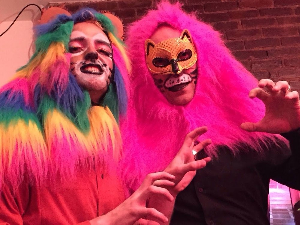We love dressing up for Halloween. One of our favorite costumes was dressing up as a Pride of Lions with a group of friends!