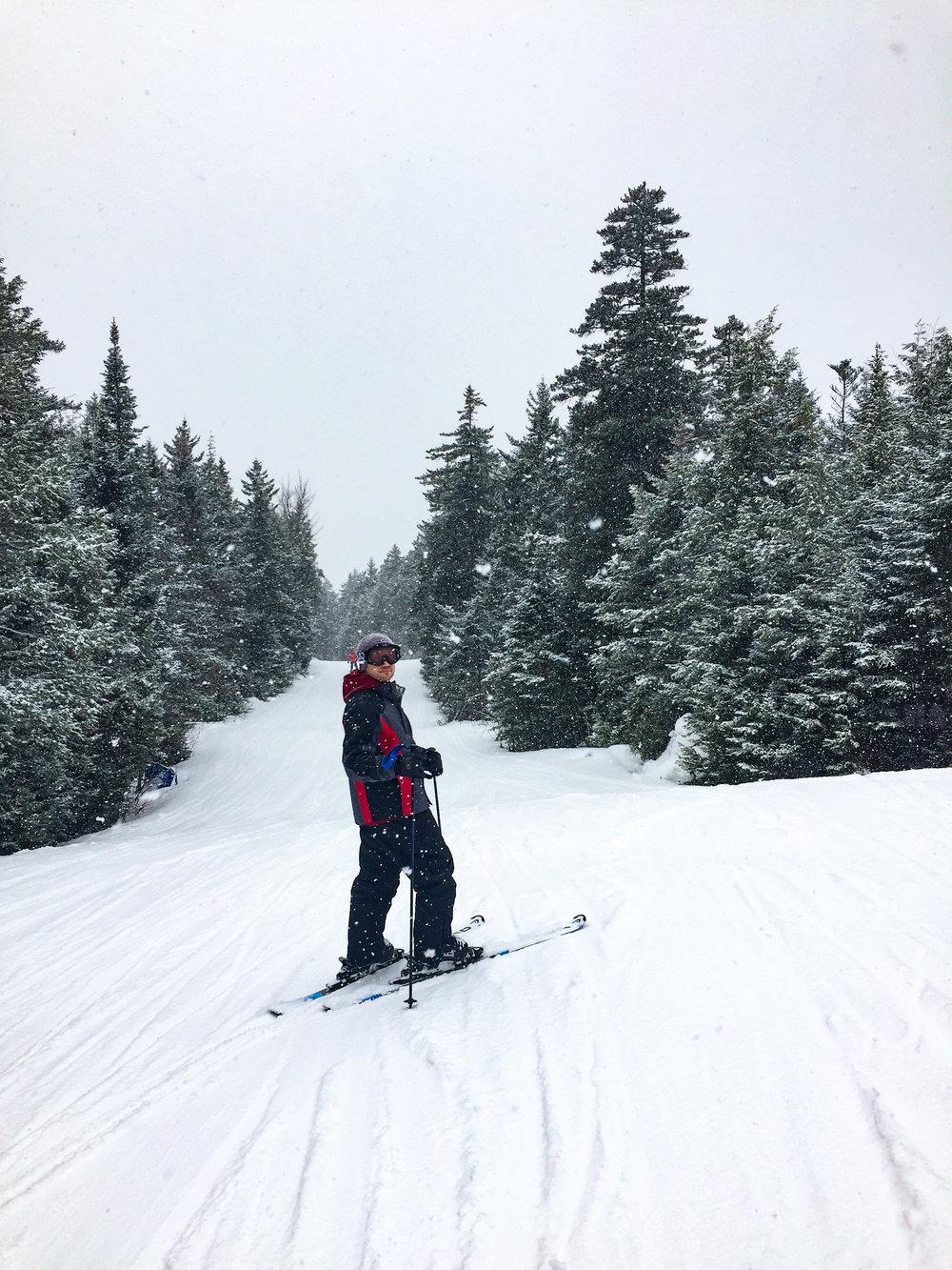 Aaron skiing in New Hampshire