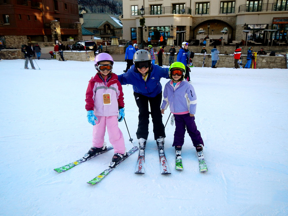 Skiing with our nieces in Colorado