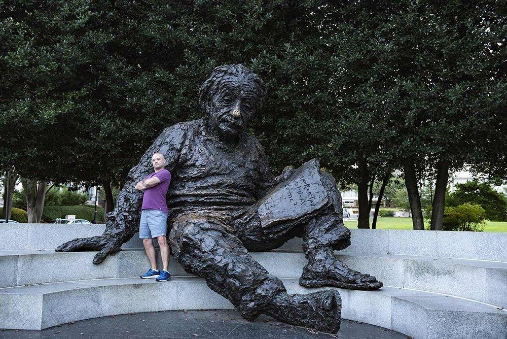 Posing with Einstein