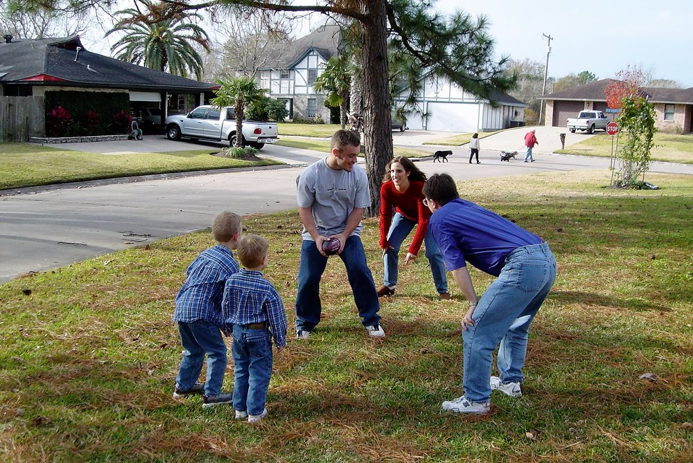 Football with my nephews