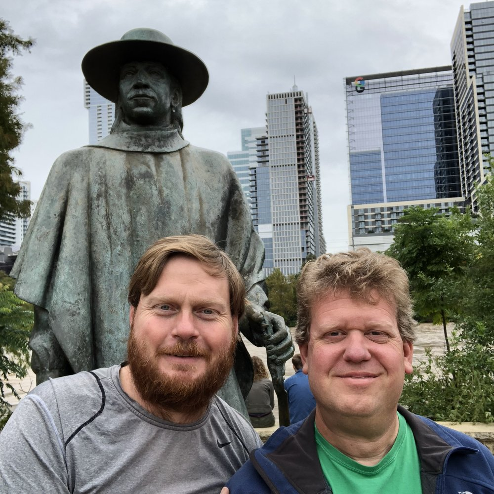 Visiting the Stevie Ray Vaughan statue