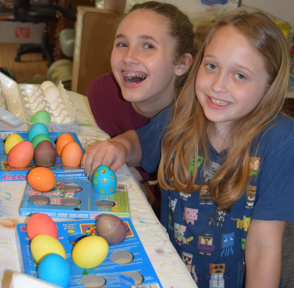 Fun times dyeing Easter eggs!