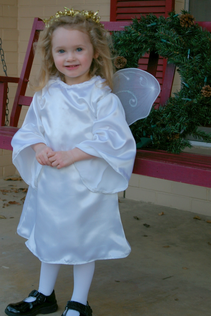 A pageant angel, sewn by Shannon