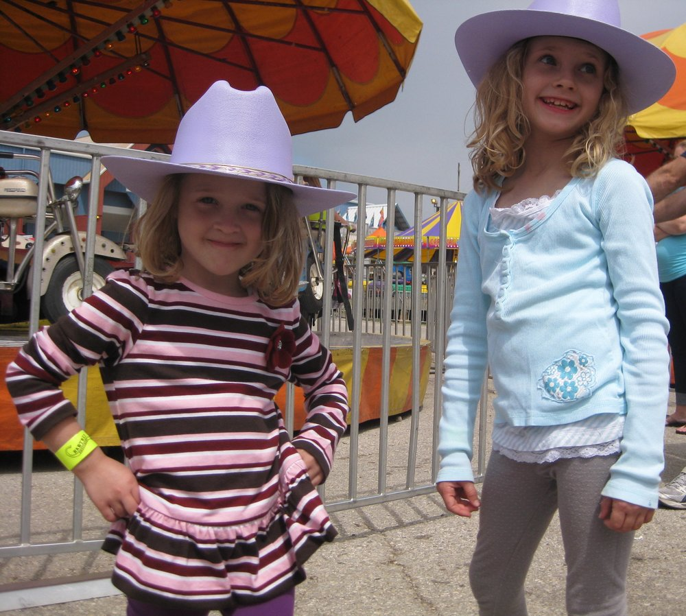 Enjoying the midway at the rodeo
