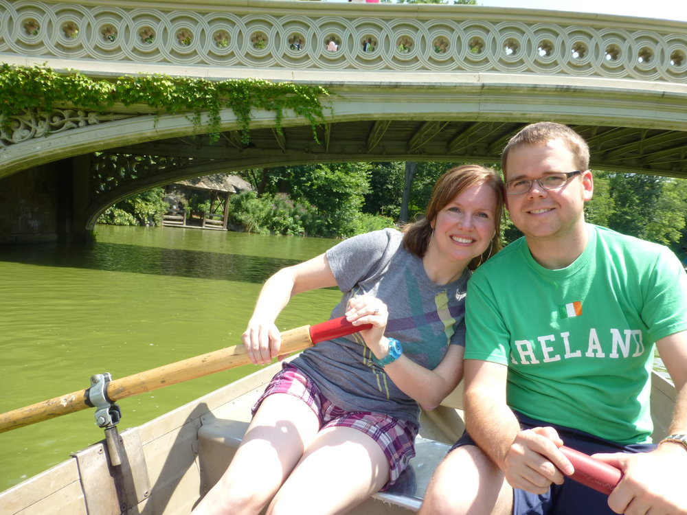 We enjoyed a boat ride in Central Park during our trip to NYC!