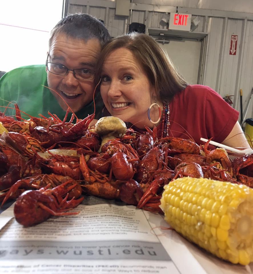 At an annual Memorial Day crawfish boil!