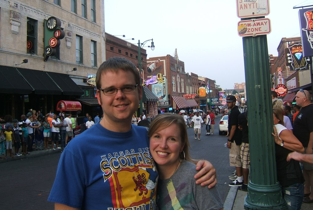 On Beale Street when visiting Memphis