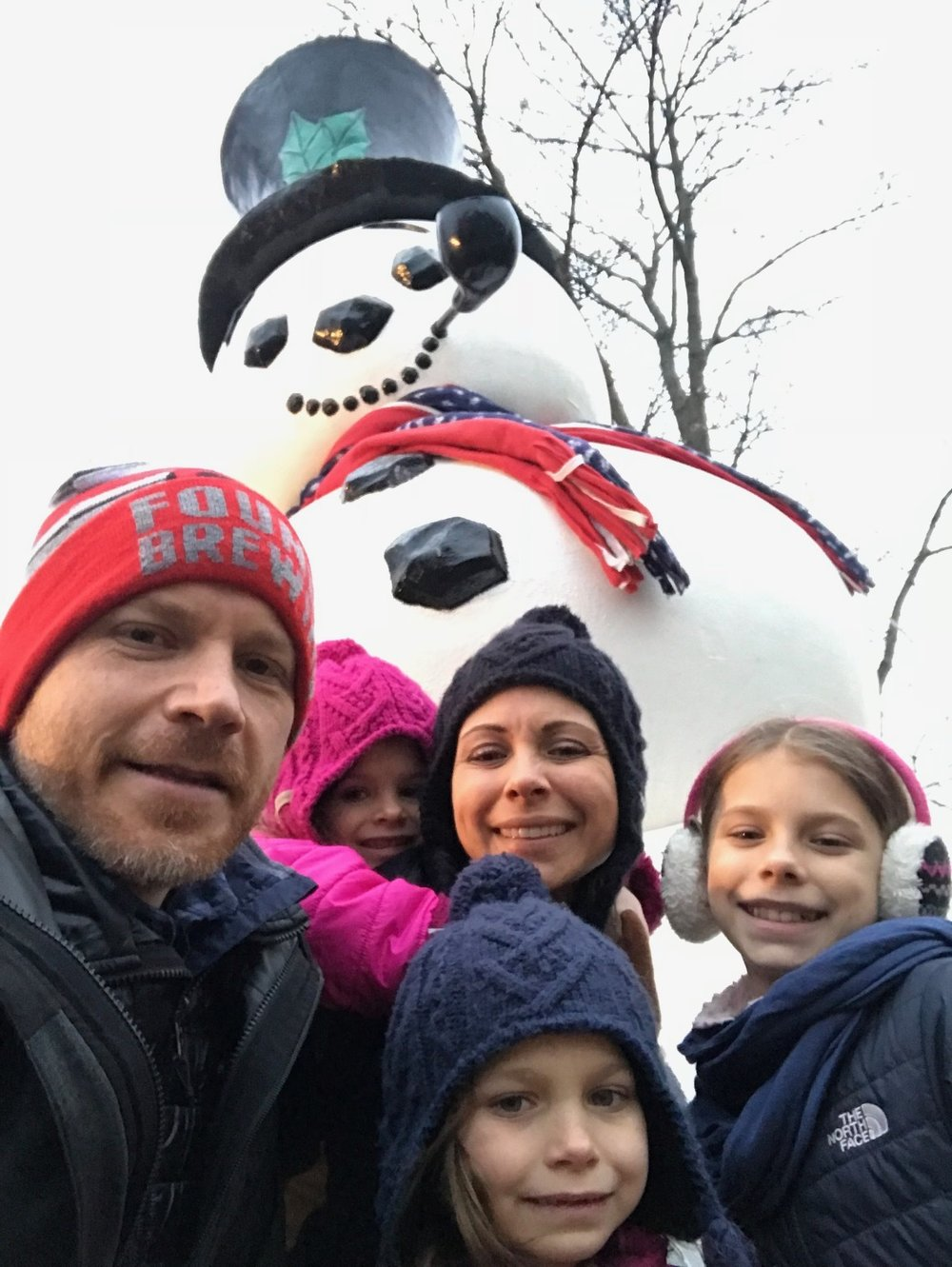 After Thanksgiving tradition - Frosty photo op and the walk of trees