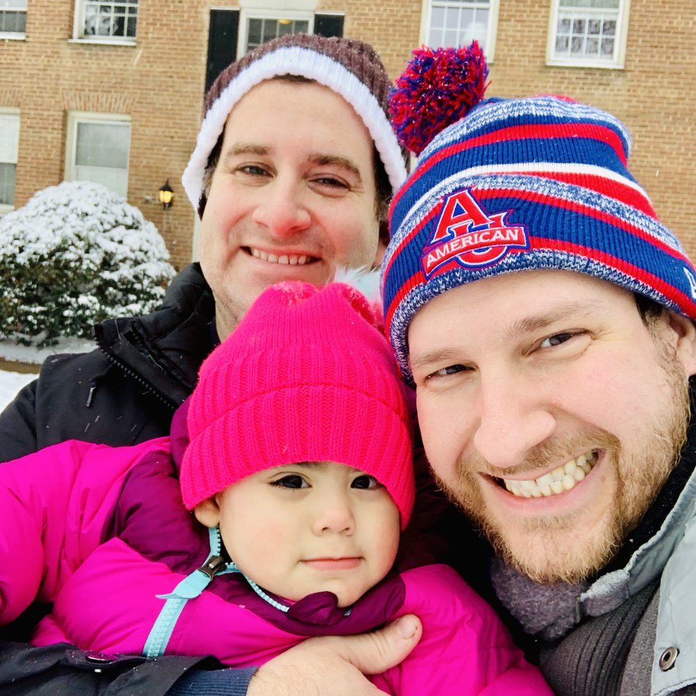 Fun in the snow with our daughter Eliza