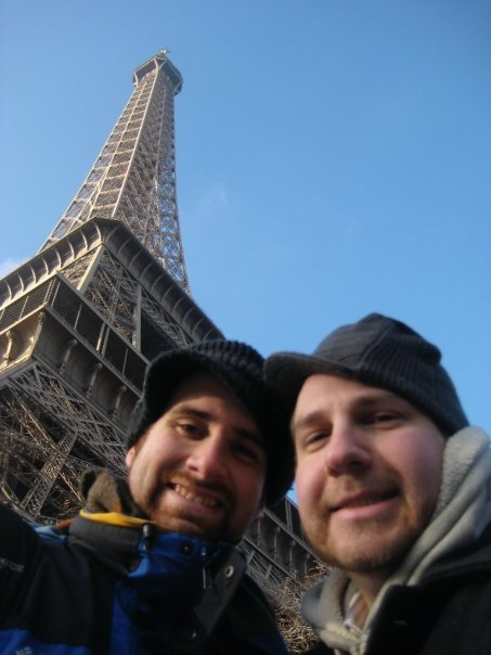 Bonjour from the bottom of the Eiffel Tower!