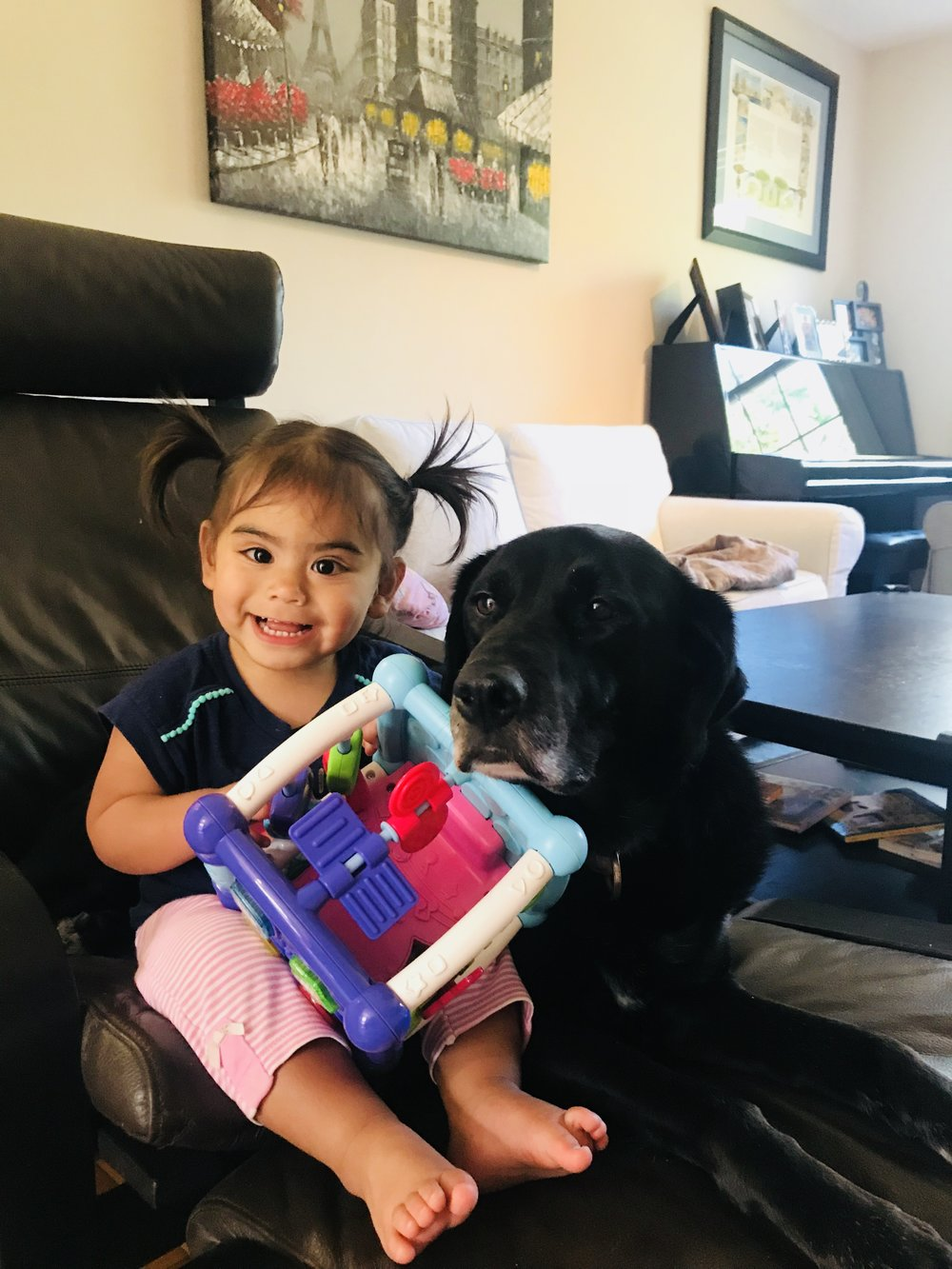 Eliza and our dog Phaedra are best friends!