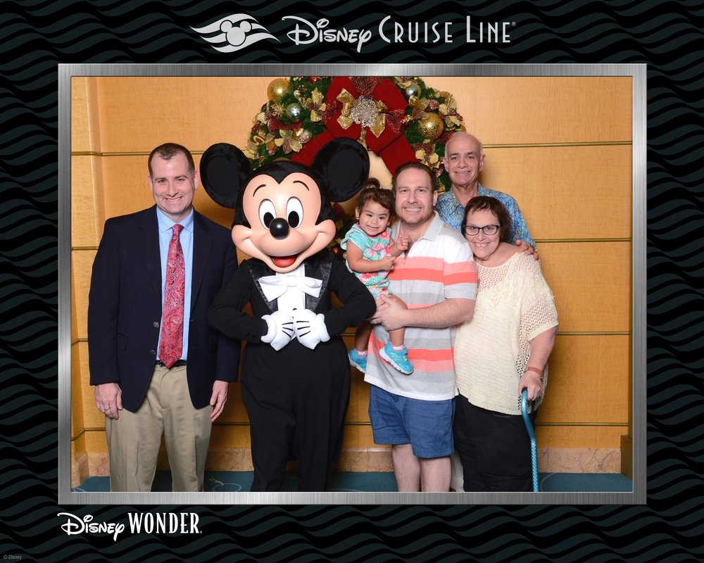 Eliza got to meet Mickey Mouse on our Disney trip